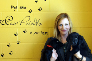 Miranda Jordan-Smith, CEO, Edmonton Humane Society with furry friends.